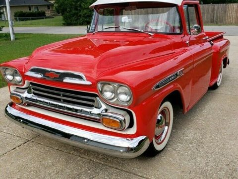 restored vintage 1959 Chevrolet 3100 pickup custom for sale