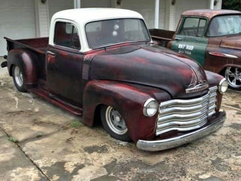 Short Bed Badass 1954 Chevy 3100 custom for sale