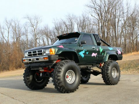 badass 1985 Toyota Pickup SR5 custom truck for sale