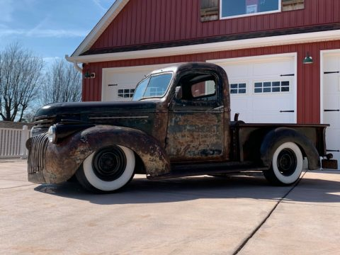 nice patina 1946 Chevrolet Pickup 3100 Shortbed Kickass custom for sale