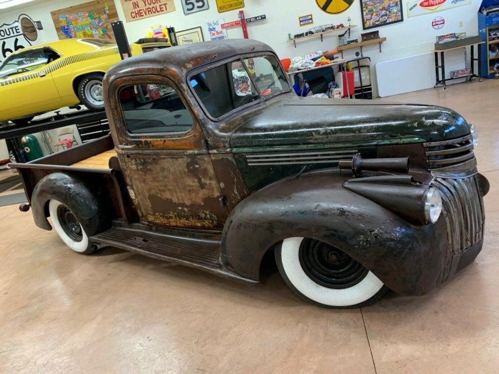 nice patina 1946 Chevrolet Pickup 3100 Shortbed Kickass custom